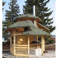 Восьмиугольная деревянная беседка БД 8-06