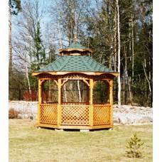 Восьмиугольная деревянная беседка БД 8-28